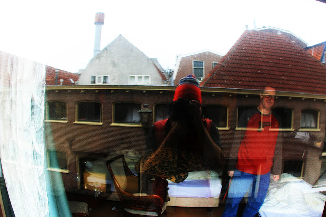 A strange reflection from the balcony of a hotel in Leiden, Holland after smoking a morning joint.