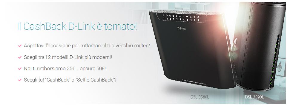 Cashback D-Link se acquisti un nuovo router