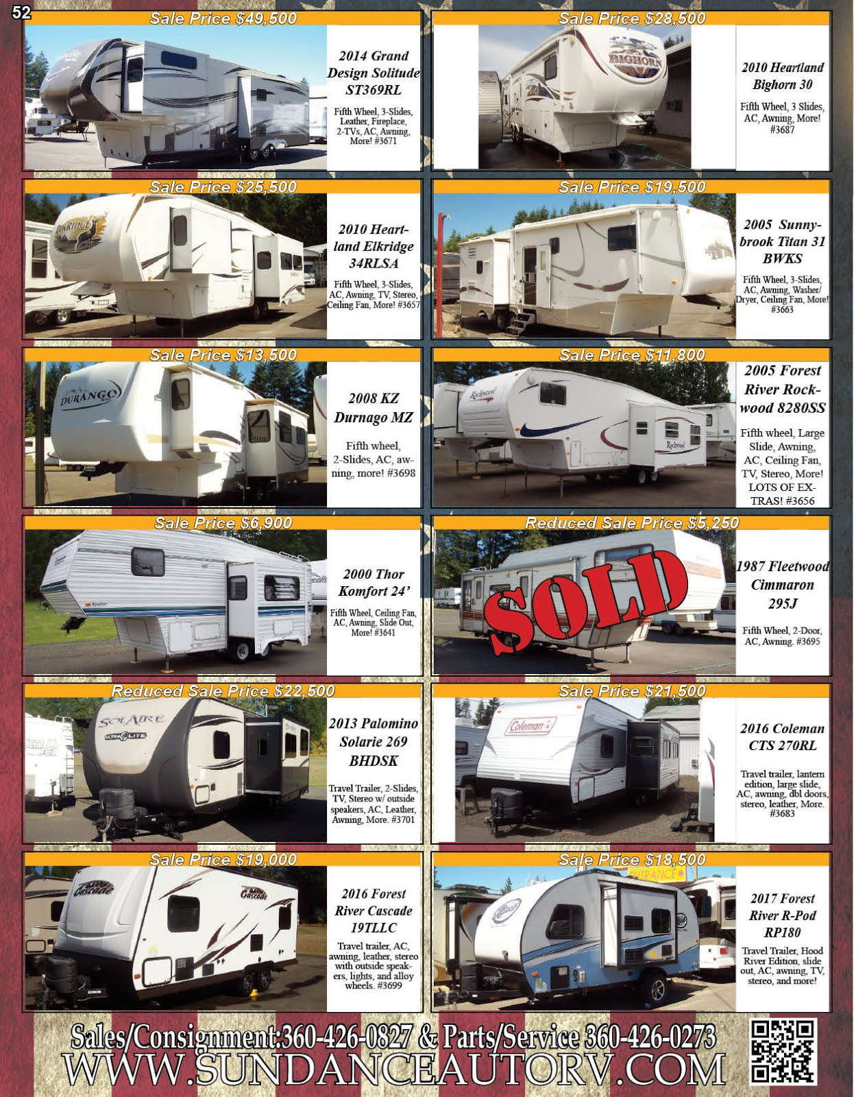 Sundance Auto & RV Center Sales Service Parts & Consignments