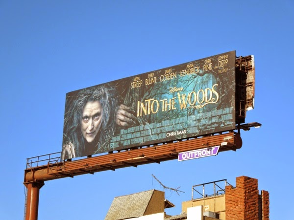 Into the Woods movie billboard