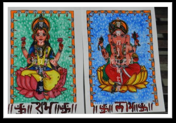 Shubh Labh, Lakshmi Ganesh painting