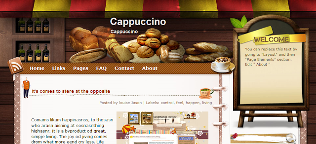 Coffee Blogger Template