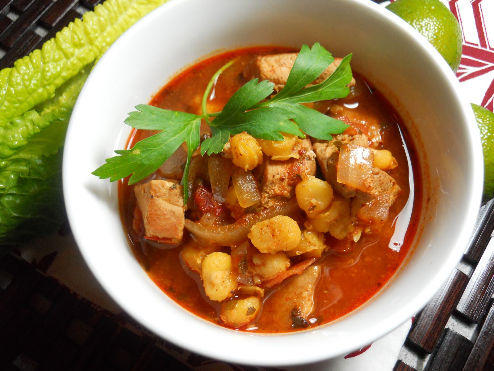 ... everything i post latley is hot and in a bowl posole is a hearty stew