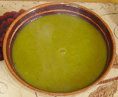 Nettle and carrot soup