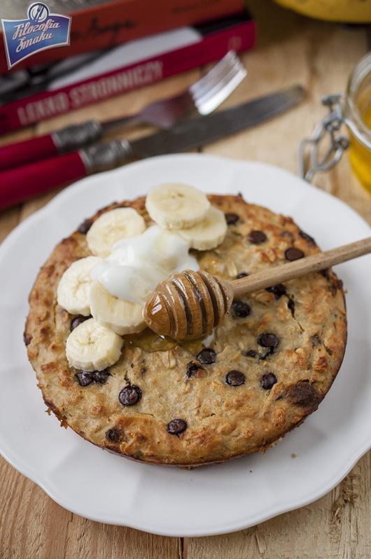 Owsianka bananowa z piekarnika