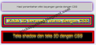 efek bayangan atau Box Shadow