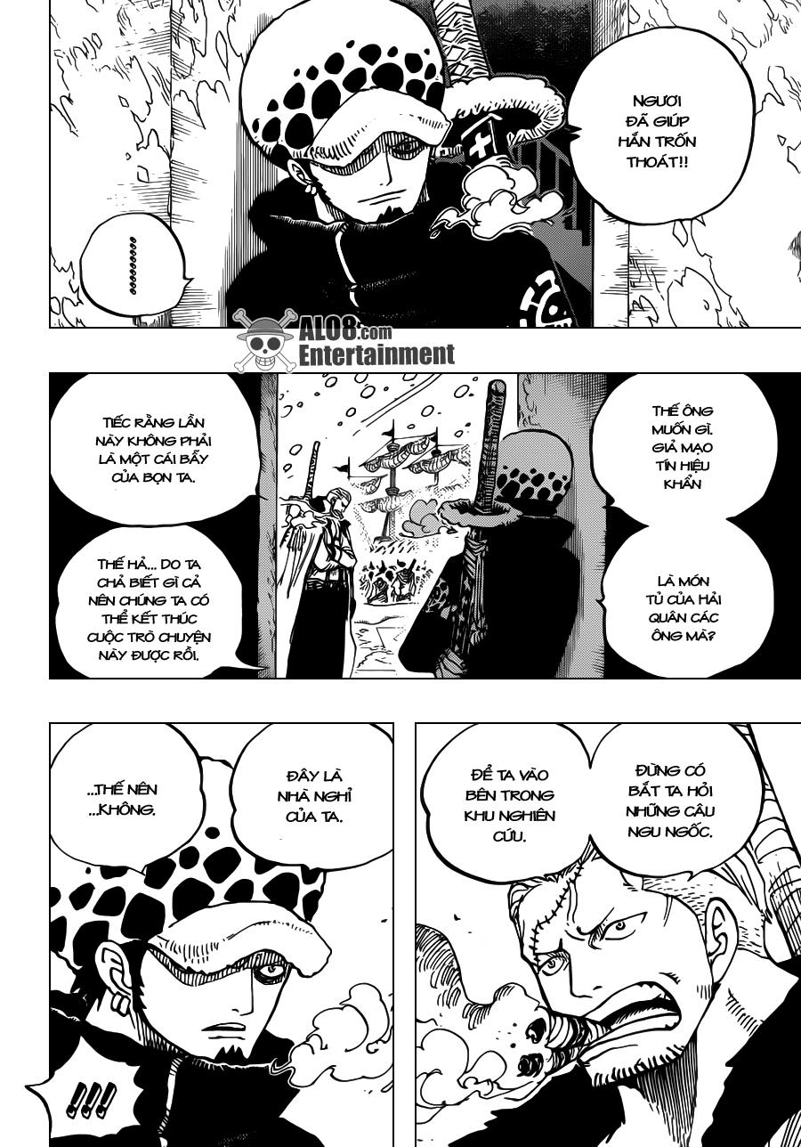 One Piece Chapter 660: Thất Vũ Hải Hoàng Gia Trafalgar Law 011