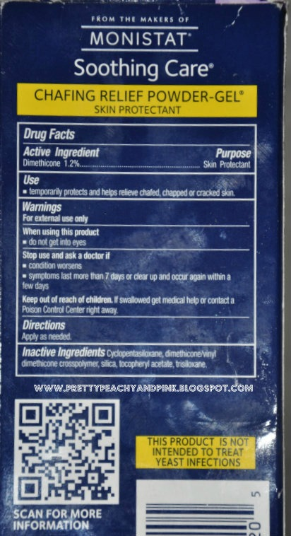 MONISTAT ANTI CHAFING GEL ingredients