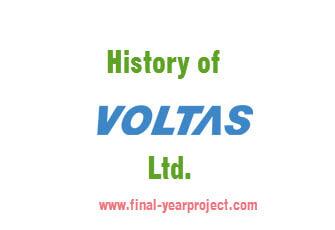 History of voltas