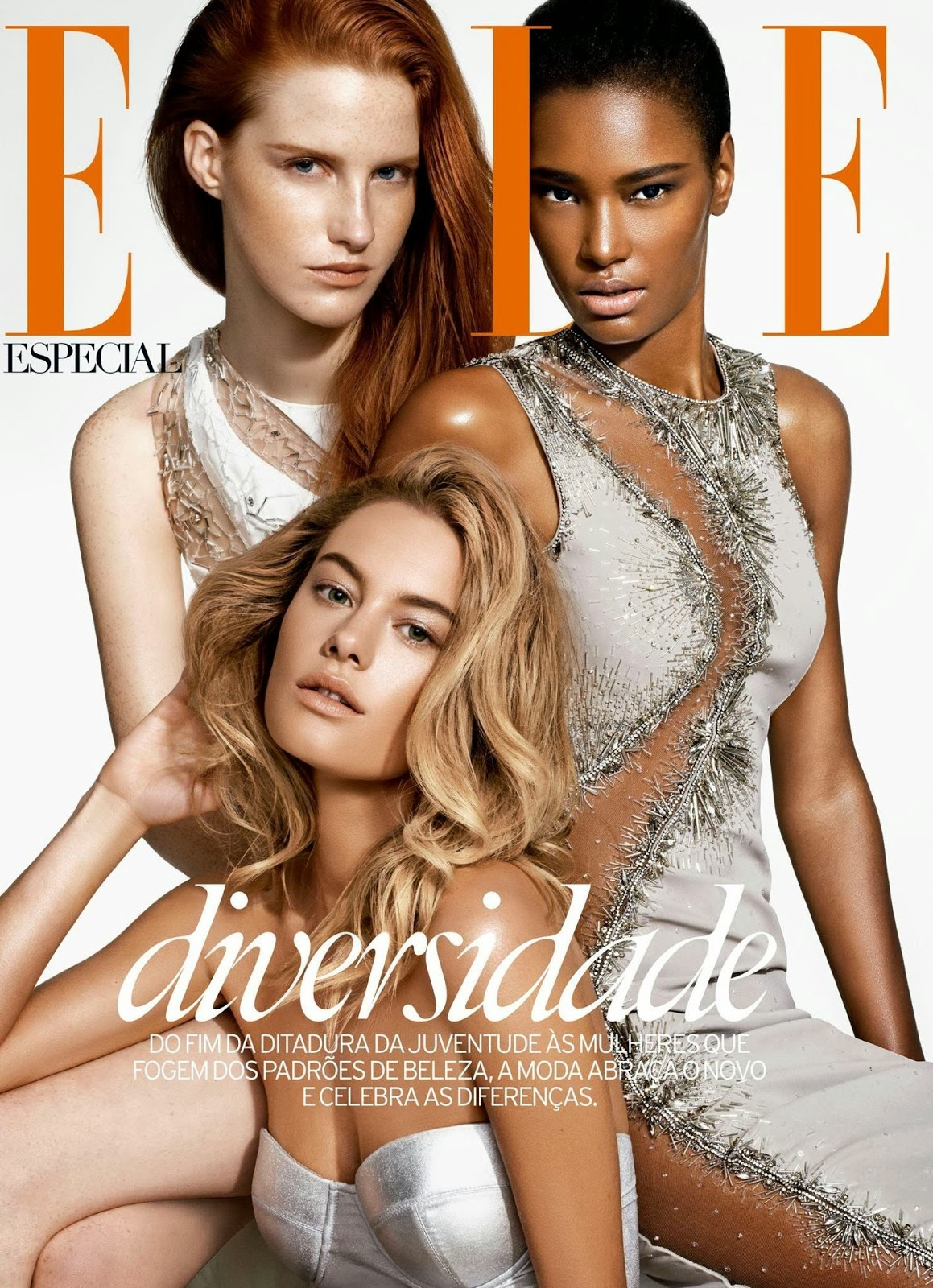 Magdalena Jasek, Camille Rowe And Ysaunny Brito HQ Pictures Elle Brasil Magazine Photoshoot February 2014 By Nicole Heiniger