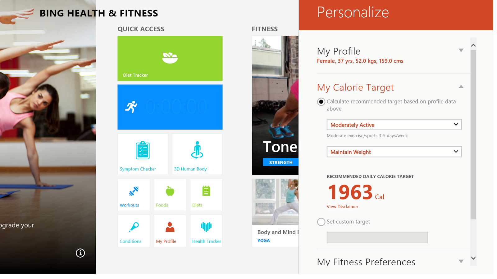 Windows 8.1, health, fitness, technology, Microsoft, fitbit, garmin, map my tun, running, exercise, nutrition, Windows, App store