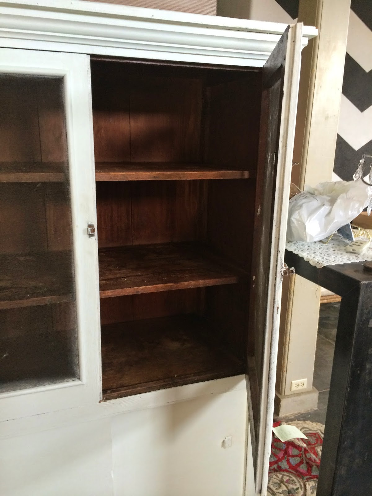 garage sale finds treasures deals in Maui Hawaii antique pie safe