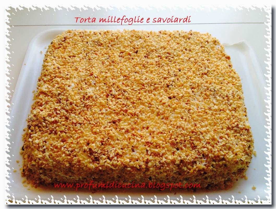 torta millefoglie e savoiardi