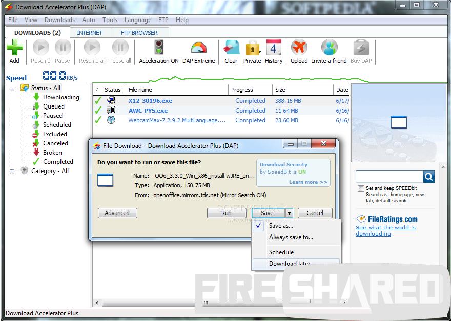 WatFile.com Download Free Download Accelerator Plus 10 (DAP) full + Crack | FireShared