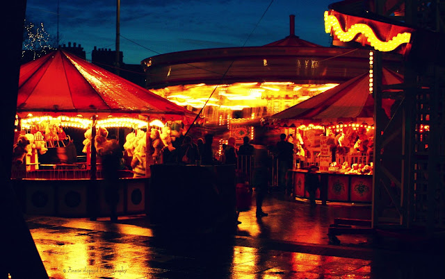 night photo from the Christmas market