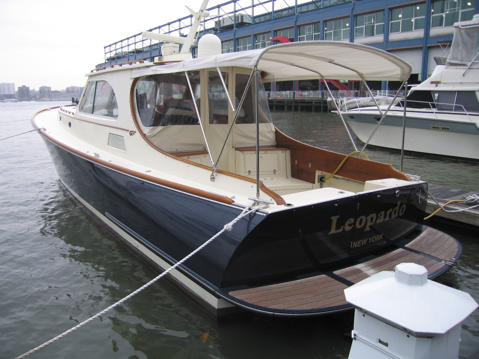 The Talaria 44 was designed by Bruce King and built by the Hinckley Company.