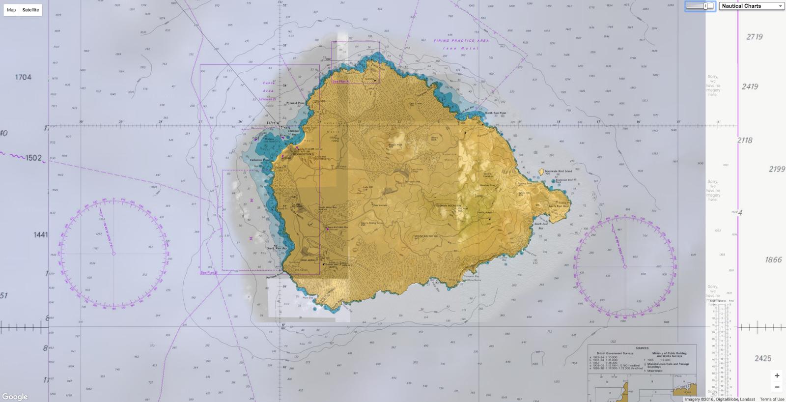 GeoGarage Blog - Ascension island google map
