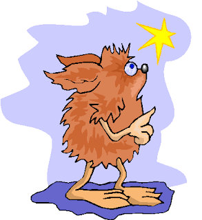 Brown Hairy Creature Look at The Star Free Clipart
