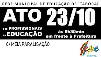 REDE MUNICIPAL: ATO PÚBLICO NO DIA 23