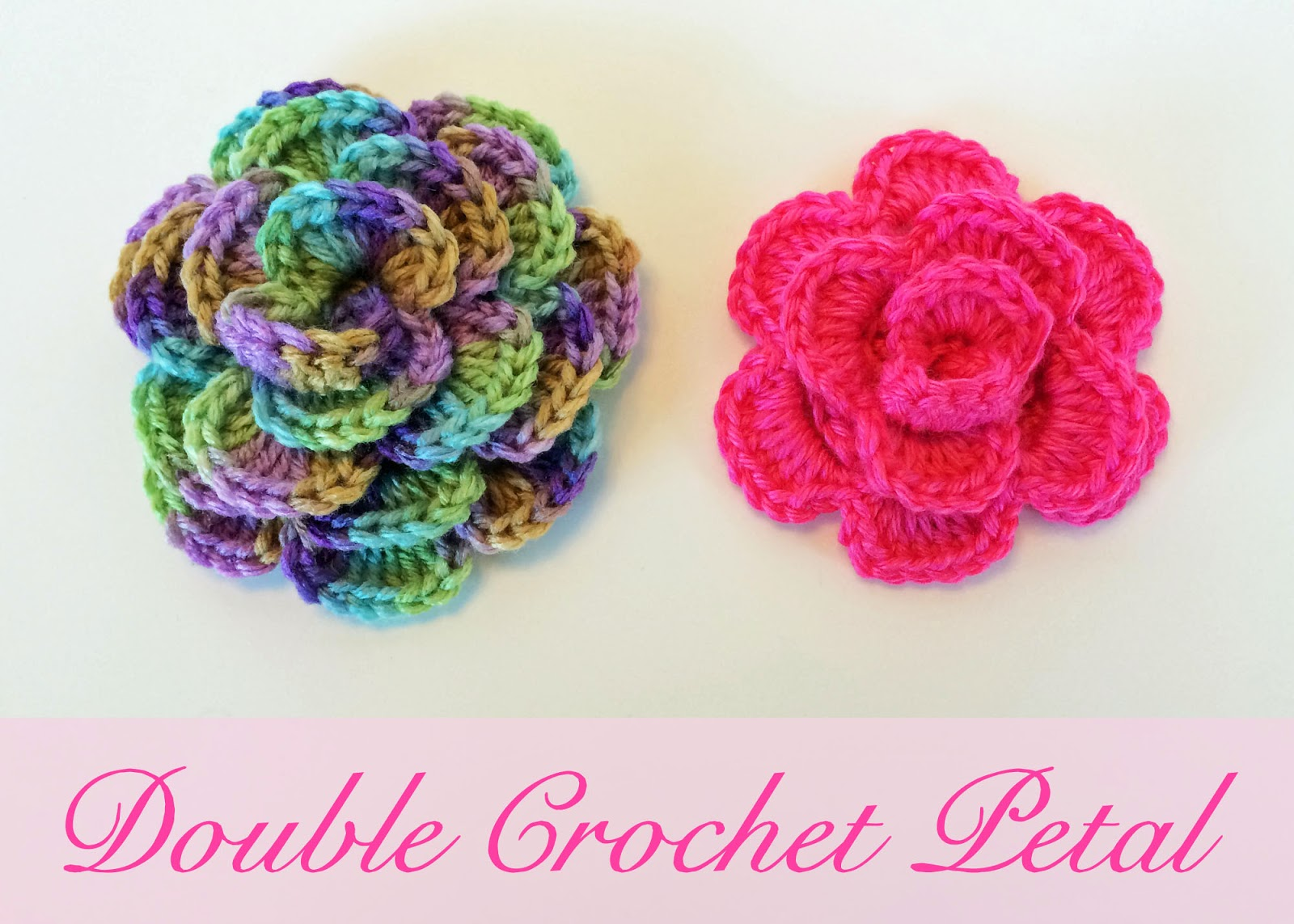 Crocheting Double Crochet : Crochet Rochelle: Double Crochet Flower
