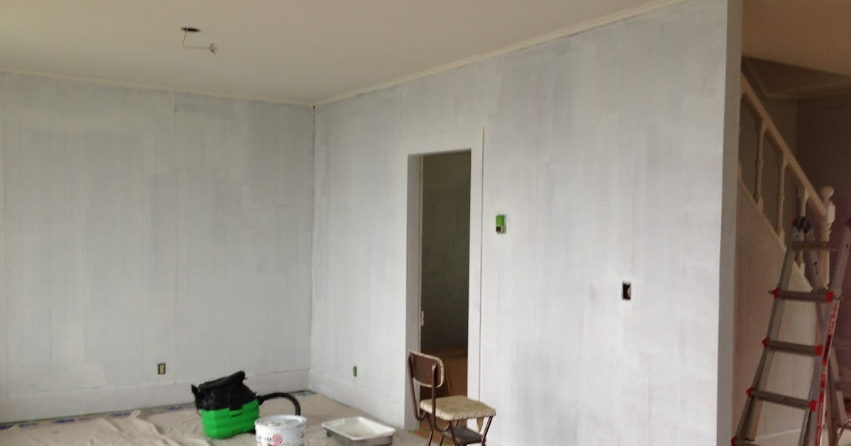 The House on the Bay: Painting Wood Paneling Bay