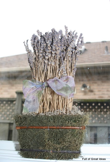 Full Of Great Ideas Dried Lavender Arrangement In Moss Pot