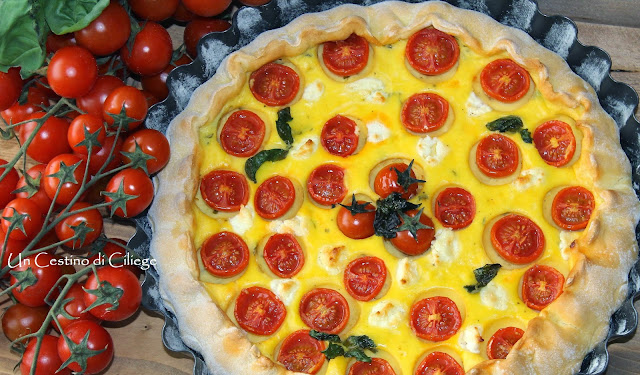 torta salata con formaggio di capra e basilico per re - cake 2.0 # 4