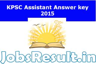 KPSC Assistant Answer key 2015