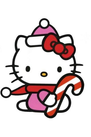 hello kitty merry christmas and happy new year wallpaper for iphone