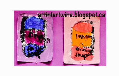 Art Intertwine - Monoprint Art Lesson For Kids