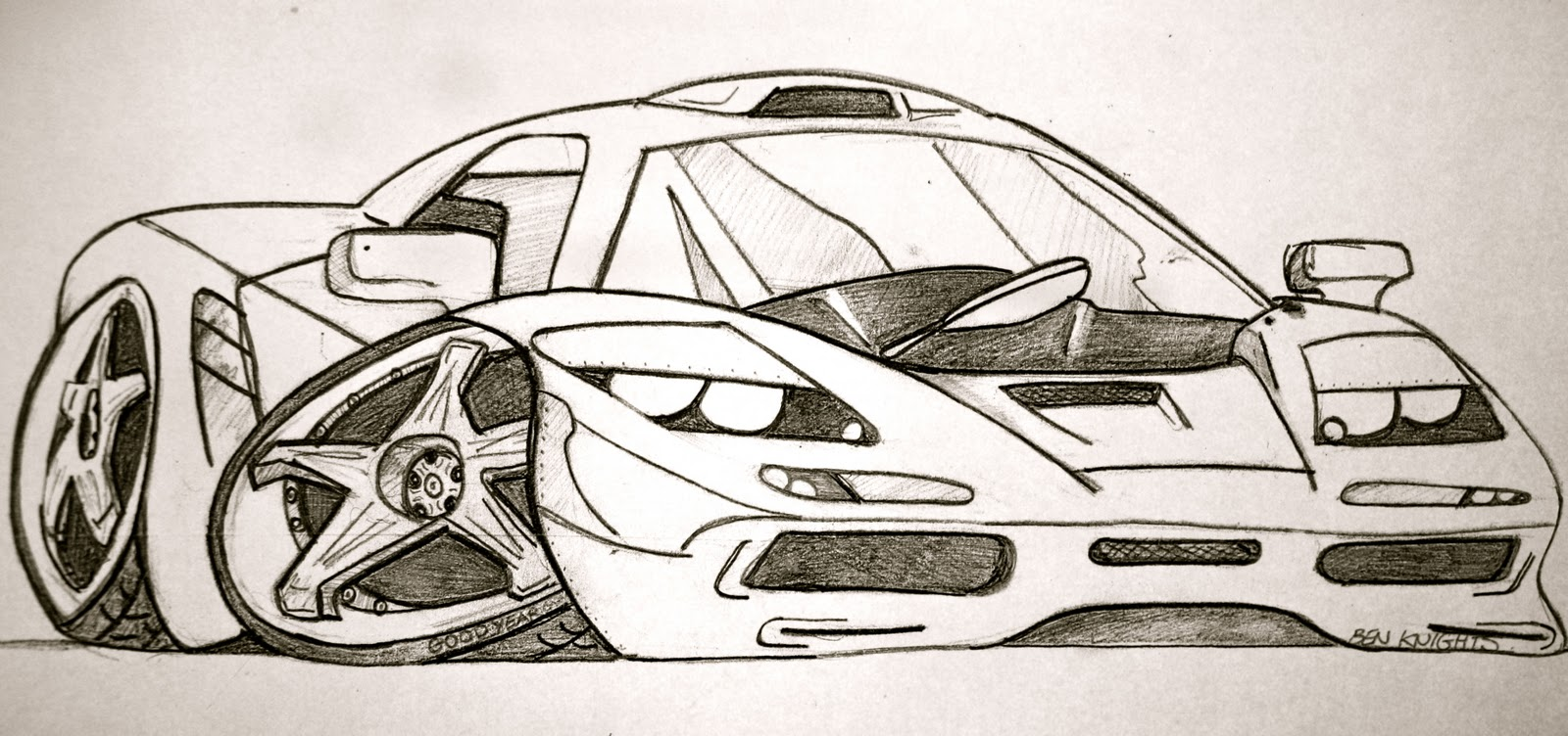 Architecture Drawing Cars ben knights art: car sketches