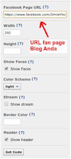 Cara Membuat kotak like fans page di blog