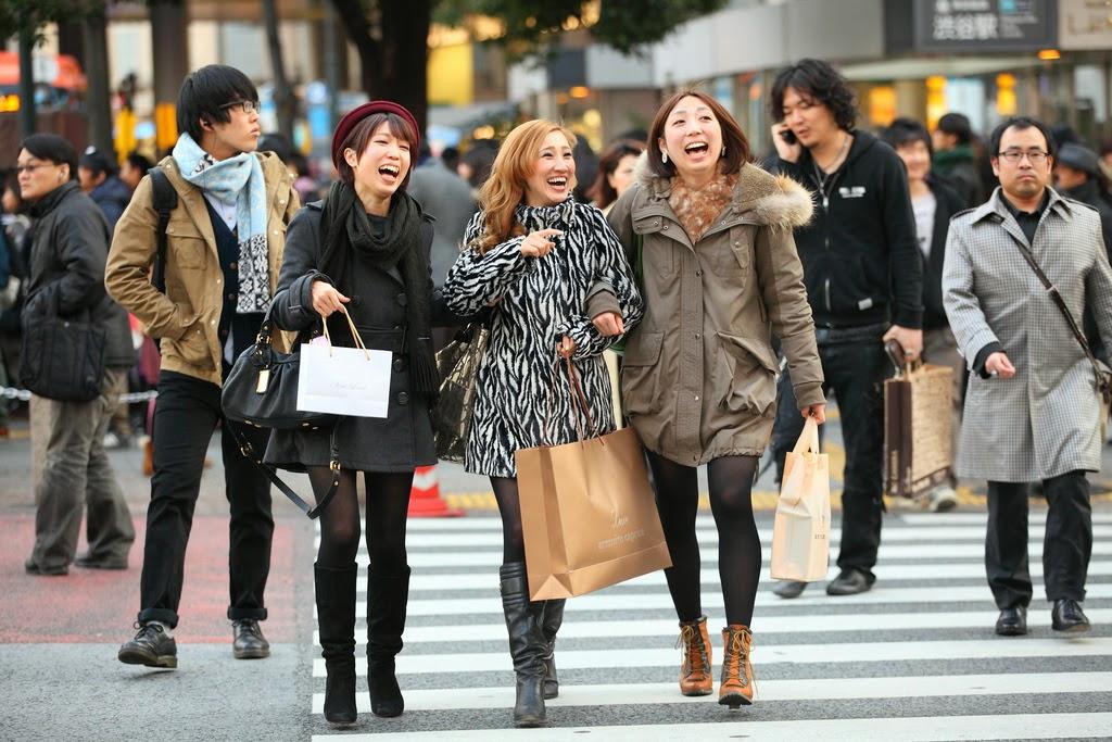 japonesas en shibuya