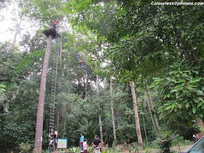 Skytrex Shah Alam Malaysia Extreme Challenge height high ladder climb