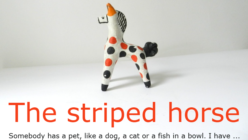 THE STRIPED HORSE