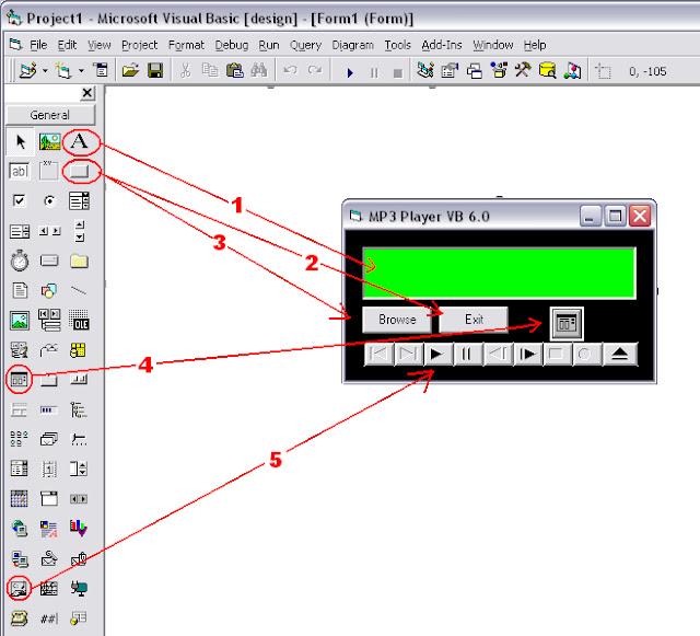 Cara Membuat MP3 Player Sederhana Dengan Visual Basic 6.0 [Part I]