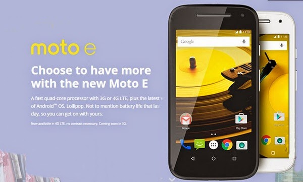 Motorola Moto E 2nd Gen:4.5 inch,1.2 GHz quad-core Android Lollipop Smartphone Specs, Price