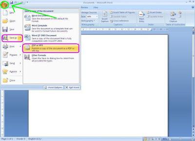Merubah File Word Ke PDF