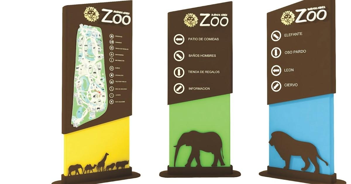 Nicolas Micillo: Tótem de señaletica - ZOO Zoo