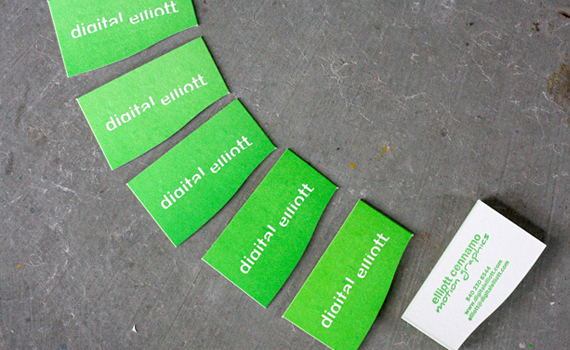 Die-cut Letterpress Business Card