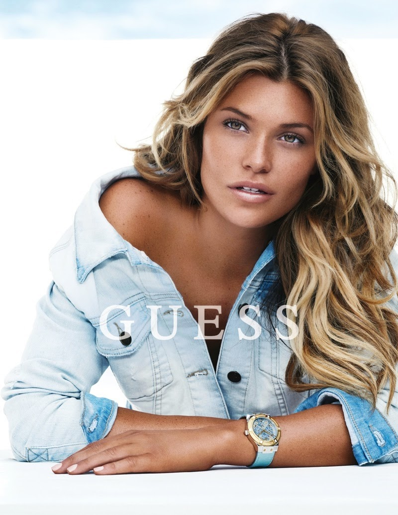 Samantha Hoopes stars for the Guess Accessories Spring/Summer 2015 Campaign