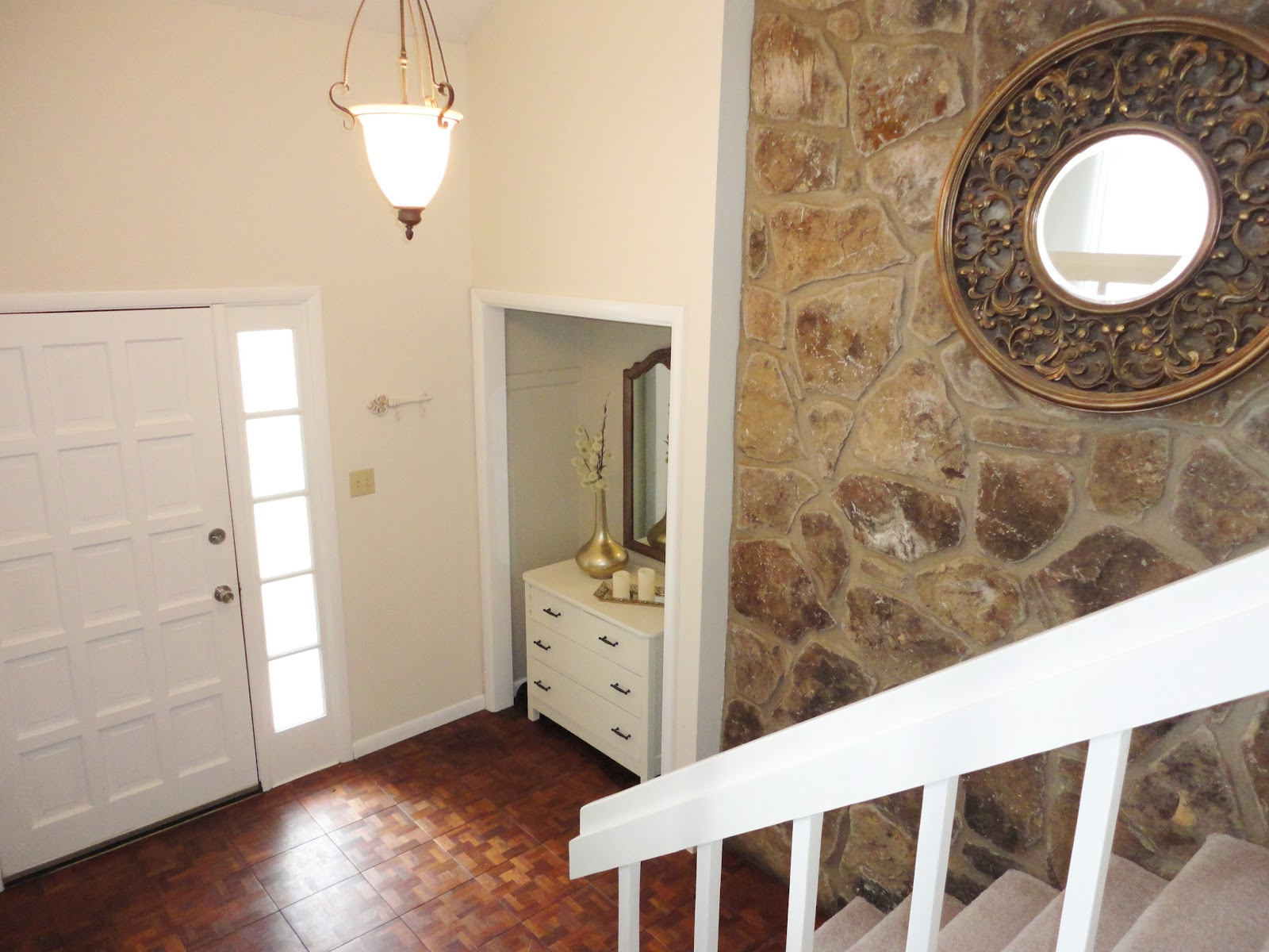 Painting Foyer Doors : Livelovediy our entryway makeover the before after
