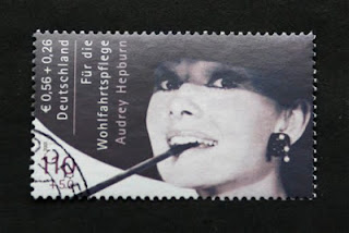 Audrey Hepburn German postage stamp (2001)