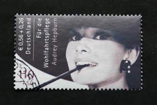 Audrey Hepburn German postage stamp (2001)