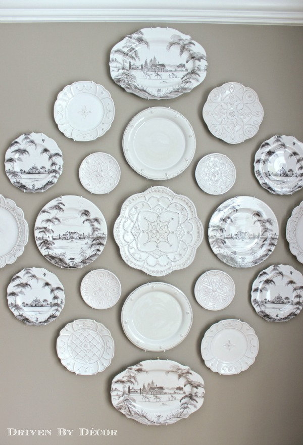 a new decorative plate wall in our dining room - Decorative Wall Plates
