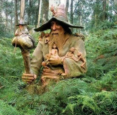 weird wooden sculpture