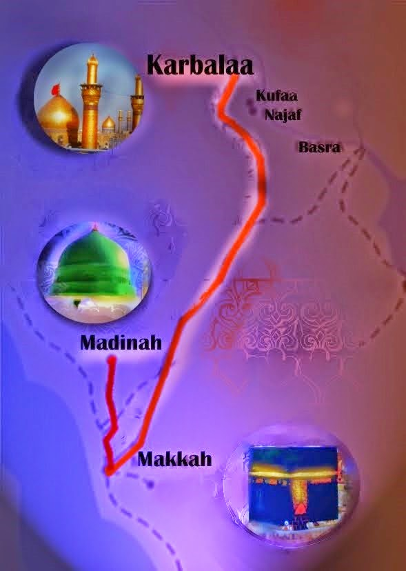 The Map Path...KARBALAA