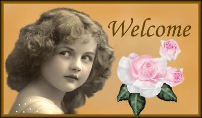 banner vintage botón welcome para el blog