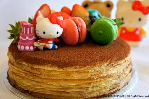 Royal's Hello Kitty Crepe Cake