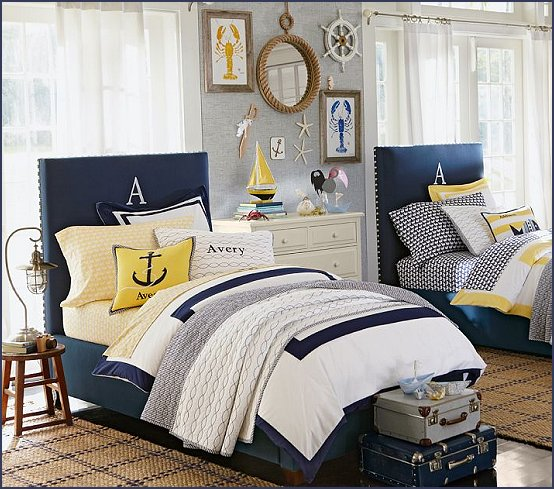 Decor Sailing Ship Theme Coastal Seaside Beach Theme Boat Beds